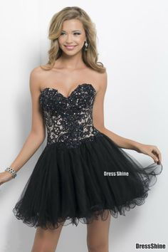 Empire Sweetheart Tull and Lace Short Prom Dress - Short Prom Dress