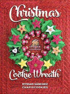 Sweet Sugarbelle: Christmas Cookie Wreath Tutorial with Chapix Cookies {Guest Post}: Christmas Goodies, Christmas Baking, All Things Christmas, Christmas Holidays, Christmas Wreaths, Chocolates, Xmas Cookies, Sugar Cookies, Wreath Tutorial