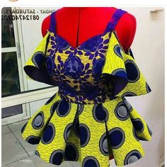 The Tunis Ankara Peplum Top African print Tops Ankara Tops African Fashion Ankara, Latest African Fashion Dresses, African Print Dresses, African Print Fashion, Africa Fashion, African Print Peplum Top, African Prints, African Fabric, African Dress