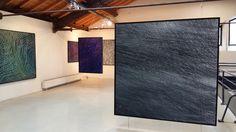 2016 - François Nugues - Exposition - Exhibition view - art center - La Lune en Parachute - France - Oil painting Penture - Art