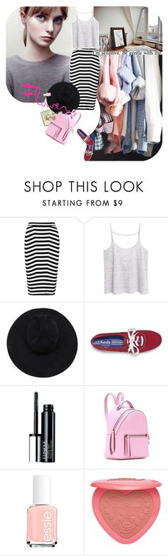 """flower"" by ladysnape ❤ liked on Polyvore featuring Samuji, Alexander Wang, Moleskine, MANGO, Gladys Tamez Millinery, Keds, Clinique, Fendi, Essie and Maison Margiela"