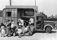 """""""The Horsebox"""". One of our wartime bureaux offering the first know example of an outreach service"""