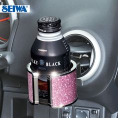 2013 hot sale Car Accessories Pink bling chrome seiwa circle drink holder phone holder shelf glass rack w683-inPhone Holders from Automobiles & Motorcycles on Aliexpress.com