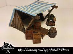 Décor figurine Échoppe Médiévale /  Wargaming Terrain Medieval Shop