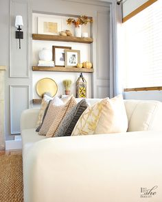Fall home tour: cool colors and warm textures
