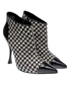ALEXANDER McQUEEN HOUNDSTOOTH ANKLE BOOTS SIZE 40.5 NWB | eBay