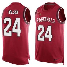 994764f8e Arizona Cardinals  24 Adrian Wilson Red Team Color Men s Stitched NFL  Limited Tank Top Jersey