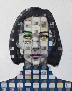 Nick Gentry Creates Incredible Portraits Using Floppy Discs and Film Negatives