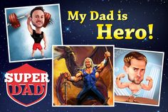 Photolamus will draw a superhero dad card for Father's Day