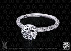 Solitaire engagement ring round diamond by Leon Mege.... my love