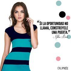 Deseamos que esta semana sea llena de oportunidades. ¡Feliz martes! Moda femenina DUPREE Happy Tuesday, New Trends, Opportunity, Feminine Fashion