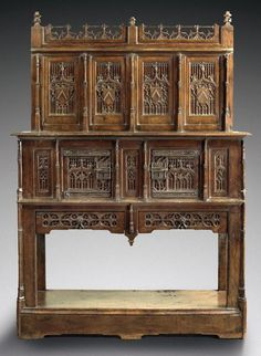 Gothic high backed dressoir