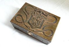 Wooden box SLYTHERIN HOUSE Harry Potter by MassoGeppetto on Etsy, €75.00