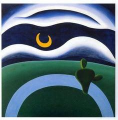 A Lua - Este quadro era o preferido de Oswald de Andrade, seu marido quando pintou a tela. Ele conservou o quadro até sua morte (mesmo já separado de Tarsila).