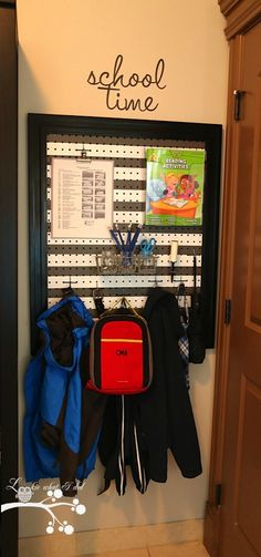 """Lookie What I Did: Preview """"Laundry Room Makeover Week - School Time Peg Board"""""""