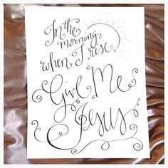 Give Me Jesus / Jesus Song / In the Morning by HandwrittenWord Jesus Songs, Jesus Mother, Give Me Jesus, Song Lyrics, Dreaming Of You, Give It To Me, Handmade Gifts, Bathroom, Etsy