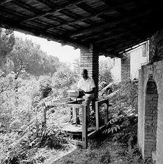 Ralph Ellison in Rome on his Olivetti Studio 44 Typewriter