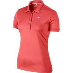 Nike Golf Ladies Icon Swoosh Tech Polo 2014 Discount Womens Clothing, Golf Shop, Golf Wear, Discount Golf, Iconic Women, Nike Golf, Golf Outfit, Ladies Golf, Nike Women