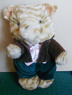 Mayor of Tabby Town dressed plush cat