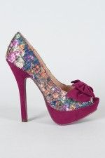 I wish I could wear these lovelys  Jassica Floral Lace Peep Toe Pump