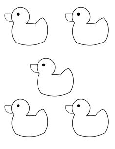 10 Little Rubber Ducks by Eric Carle clip art that can be used to accompany lessons with the book. Also there are numbered duck printables.
