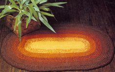 NEW! Oval Rug crochet pattern from Gift Ideas & Great Ideas, Leaflet No. 2633.