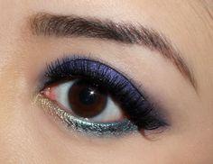 Purple / Teal / Gold Eye Makeup Look