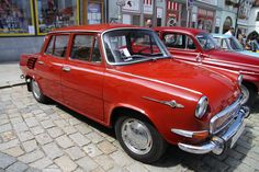 The Škoda 1000 MB/1100 MB were two variations of a rear-engined, rear-wheel drive car that was produced by Czech manufacturer Škoda Auto in Mladá Boleslav, Czechoslovakia, between 1964 and 1969. The two-door Coupé versions of the 1000 MB and 1100 MB were called the 1000 MBX and 1100 MBX.