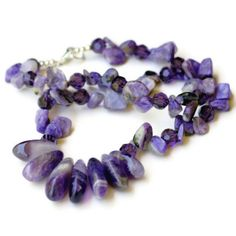 Handmade Purple Statement Choker Necklace Charoite by ALFAdesigns, $89.99