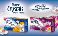 Gloria's Bits and Pieces: Purex Crystals Dryer Sheets Review + GIVEAWAY! Enter at link below!  http://kngmckellar-glorias.blogspot.com/2014/04/purex-crystals-dryer-sheets-review.html