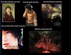 Nico do Angelo <<< I dunno. I see Nico as the 'in person' or 'fandom' ones.