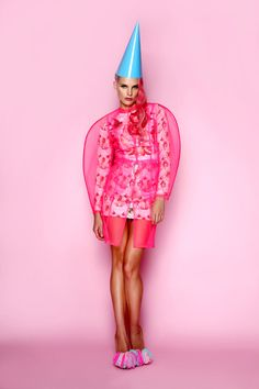 Pink tulle coat, printed dress  shoes ANA LJUBINKOVIC / fw 2012/13 collection