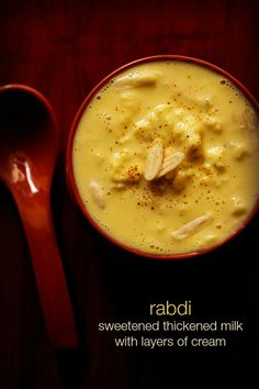 rabri recipe - popular north indian sweet of thickened sweetened milk with layers of malai or cream.