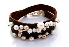 Pearl studded leather!