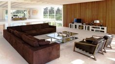 Stylish Living Room With Corner Sofa