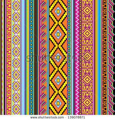 vector striped seamless background with a mexican ornament by valeriya_sh, via Shutterstock
