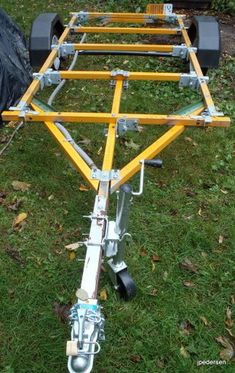 A Homemade Trailer That Is Bolted Together : 11 Steps (with Pictures) - Instructables Trailer Kits, Work Trailer, Off Road Camper Trailer, Trailer Plans, Trailer Build, Utility Trailer, Camper Trailers, Trailer Dolly, Trailer Axles