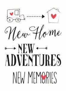 Nieuwe woning / Verhuiskaart - Samenwonen-new-adventures