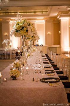 photo: Janet Howard Studio; Elegant Atlanta Wedding with a Royal Flair at the St. Regis - wedding reception.