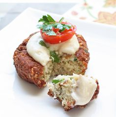 Faux-lafel with Tahini Sauce