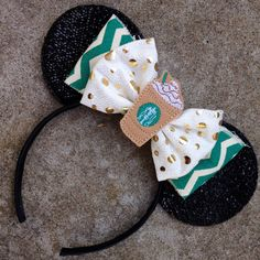 These ears are a perfect way to combine your love for Starbucks and Disney! Can be made with a felt frappuccino or mermaid Starbucks bottle cap in