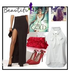 """""""Beautifulhalo-II/35"""" by ermansom ❤ liked on Polyvore featuring WithChic, beautifulhalo and bhalo"""