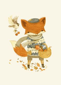 Fritz the Fruit-Foraging Fox  by Teagan White