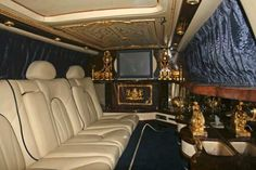 Michael Jackson Rolls Royce Limo Interior outfitted with 14K gold