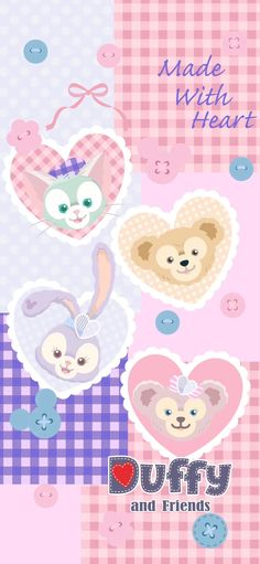 Disney Phone Wallpaper, Cute Anime Wallpaper, Cute Cartoon Wallpapers, Pastel Wallpaper, Cute Wallpaper Backgrounds, Iphone Wallpaper, Snoopy Wallpaper, Friends Wallpaper, Duffy The Disney Bear