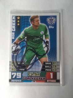 Rob Green QPR Footballer Signed Match Attax 2014/15 Trading Card/autograph