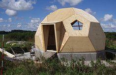 Caseta de madera con cúpula geodésica | Casasdemaderaymas.com
