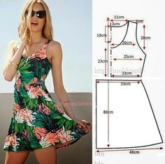 Trendy Sewing Clothes Diy Dress How To Make Ideas Dress Sewing Patterns, Clothing Patterns, Pattern Sewing, Free Pattern, Easy Dress Pattern, Sundress Pattern, Summer Dress Patterns, Diy Clothing, Sewing Clothes