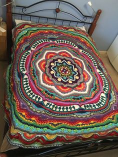 The project is a circular blanket, made in the round, it is a mandala and so there will be no option to square it off, although you are welcome to do that yourself.