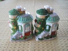 Cottage Lighthouse Salt and Pepper Shakers  Vintage by DEWshophere, $7.99